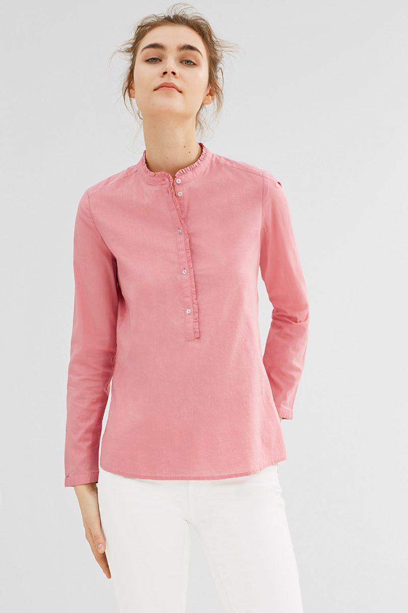 chemisier coton rose esprit
