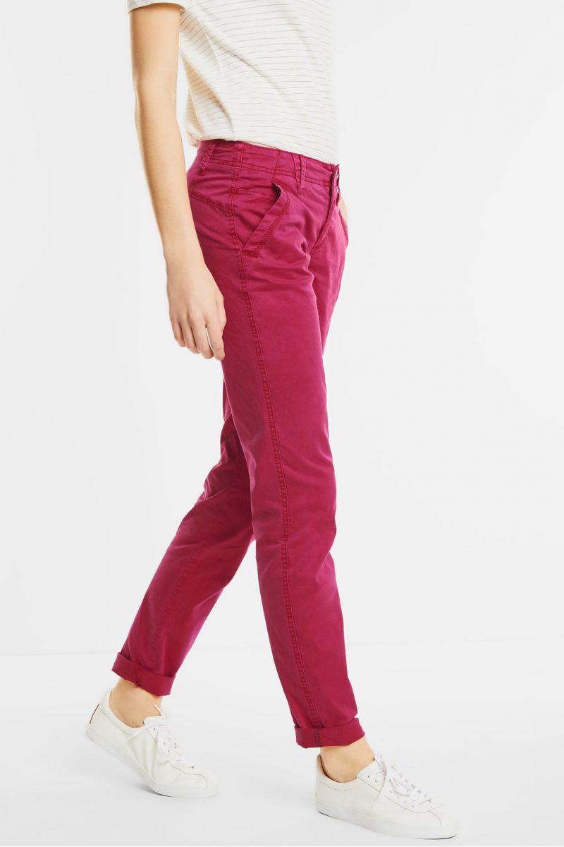 pantalon casual fit rose street one