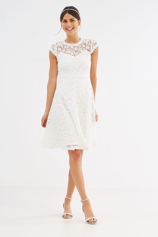 robe aspect 3D dentelle esprit