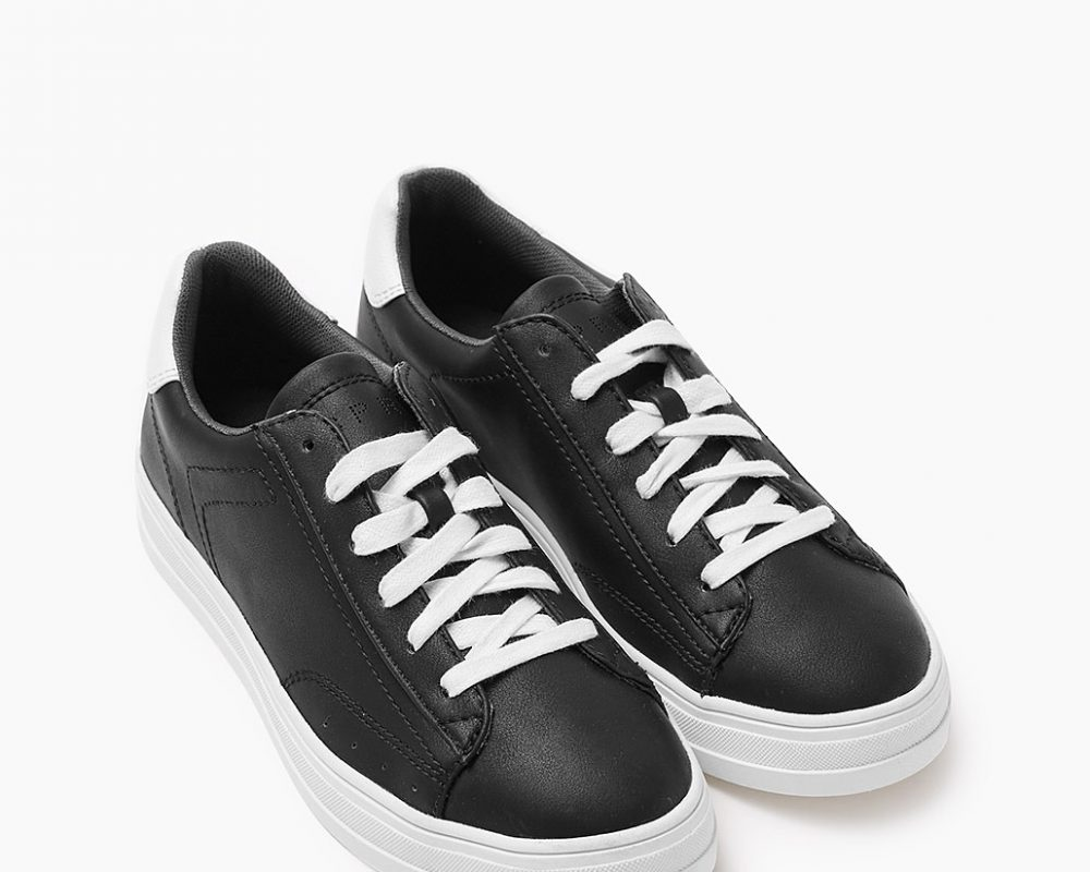 sneakers similicuir esprit